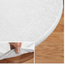 Elasticized Table Pad, Smooth Fitting Pad Protect, Cushion Dishes, Quilted Vinyl