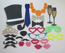 26 PHOTO BOOTH PROPS MOUSTACHE/LIPS ON A STICK WEDDINGS