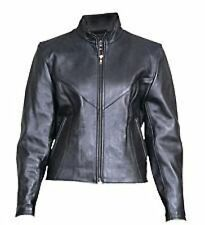 A2160 Ladies plain jacket with zipout liner and Antique Brass zippers (Cowhide)