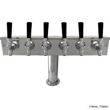 "4"" Pedestal Towers - Stainless Steel - 6 to 12 Faucets - Commercial Draft Beer"