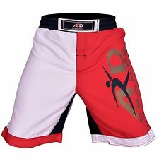 ARD Pro MMA Fight Shorts UFC Cage Fight Grappling Muay Thai Boxing White XS-3XL