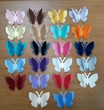 20 3d LARGE PEARLESCENT BUTTERFLY Wedding Table Confetti Topper LOTS COLOURS NEW