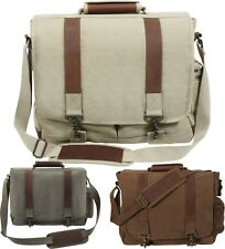 Pathfinder Military Laptop Shoulder Bag with Leather Accents