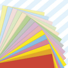 A4 Sheets Mixed Coloured Craft Printer Copier Card 160gsm Stock Pack Plain