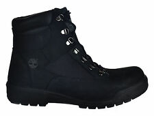 Timberland Men's 6 Inch Field Boots Outdoor Shoes Black Nubuck Rubber Sole 98518