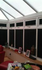 No Screw Blinds 247 EZ Fit pleated conservatory blinds. Crush fabric.