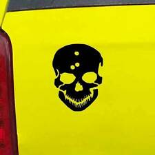 "Skull with Bullet Holes Decal Sticker - 24 Colors - 3.75"" x 5"" [ebn00990]"