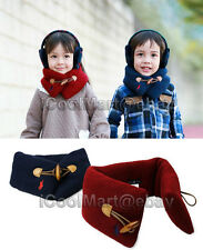 Children Kids Toddler Warm Scarf Neck Wrap Warmer Muffler Neckwear Circle Loop