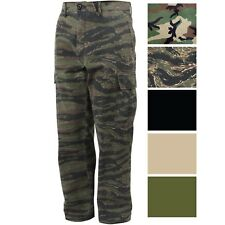 Vintage Military Cargo Flat Front BDU Fatigue Pants