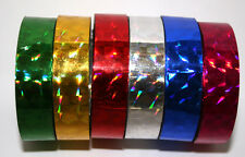 Holographic Tape 15mm x 10+m Decorative Sticky Paper Masking Tape Adhesive Gift