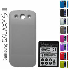 WHITE Cover + Extended Battery + TPU Case Samsung Galaxy S3 III i9300 ~NO NFC