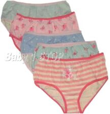 Girls 5 Pack Cotton Briefs / Knickers / Pants 2-3 3-4 5-6 7-8 9-10 Years