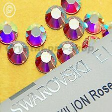 GENUINE Swarovski AB Crystal ( Hotfix ) Iron on Round Flatback Clear Rhinestone