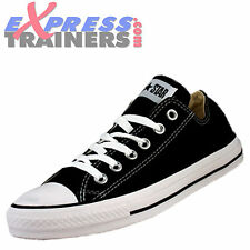 Converse Womens Junior All Star Lo Chuck Taylor Trainers Black * AUTHENTIC *