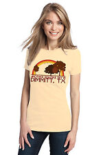 ANOTHER BEAUTIFUL DAY IN DIMMITT, TX Retro Adult Ladies' T-shirt. Texas City Pr