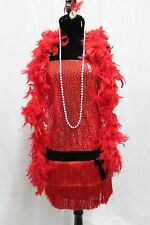 Flapper Sequin Roaring 1920s Boutique Costume WOMENS NEW FREE SHIP