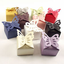 High Quality BUTTERFLY Top PEARLESCENT Semi-Gloss Wedding Sweet Favour Boxes