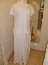 Lepel White Lilly Spot Shirt Top and Trousers Pyjamas *NEW*