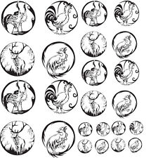 """Wildlife Glass or Ceramic Low Fire Decals-Sheet 7"""" x 8"""" Choose Your Decal Clr"""