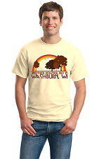 ANOTHER BEAUTIFUL DAY IN WASHBURN, WI Retro Adult Unisex T-shirt. Wisconsin Cit