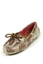 Women's Sperry Top Sider Naples in Brown Python Snake 360 lacing system tie NEW