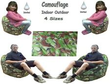 Camouflage Beanbags Camo Bean Bags Chair Adults & Kids Army Couch Bean Bag