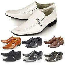 MENS ITALIAN STYLE DESIGNER INSPIRED SMART OFFICE FORMAL WEDDING SLIP ON SHOES