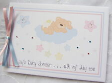 PERSONALISED NEW BABY SHOWER* CHRISTENING* PHOTO SCRAPBOOK ALBUM * GUEST BOOK*
