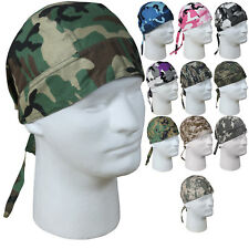 Camouflage Military Cotton Biker Headwrap Do-Rag Bandanna