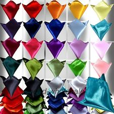 MENS HANKY SILK SATIN POCKET SQUARE HANKERCHIEF FOR GOOMSMEN TIE WEDDING BRIDAL