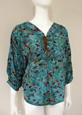 NWT Nine West TIE FRONT BLOUSE Vintage America Collection DOLMAN SLEEVE $69.50