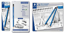 STAEDTLER MARS LUMOGRAPH 100 PENCILS 6, 12 and 19 Tin Pencil Sketching Set