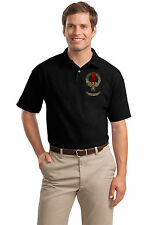CLAN MacNAUGHTON Adult Unisex Polo. Scottish Family Crest, Scotland Coat of Arms