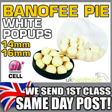 WHITE BANOFEE PIE MAINLINE CELL POP UPS BOILIES BANANA TOFFEE BANOFFEE POPUPS UP