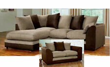 Dylan Corner Group Sofa Left /Right, Brown and Beige with Matching 2 / 3 Seater