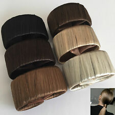 IMITATION HAIR SELF WRAPPING PONYTAIL RING BLONDE BROWN WOMEN'S ACCESSORIES