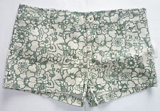 Womens Girls AEROPOSTALE Green Floral Shorts NWT #5153