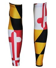 Hill Killer Apparel Maryland Flag Arm Warmers Cycling Running