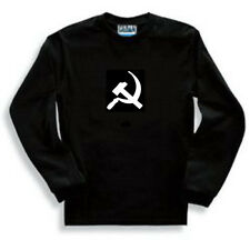 """""""HAMMER AND SICKLE""""  COMMUNIST RUSSIA MENS LONG SLEEVE SHIRT SML-XXL RED GOLD"""
