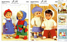 teddy/knits & pieces Sandra Polley. Dolls clothes & accessory knitting patterns