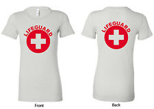 Bella My Favorite Tee, White Ladies Lifeguard Uniform T-shirt, S-XL (W6004LG)
