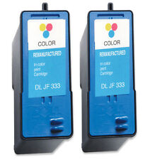 2 Dell 6 Series Colour Printer Ink Cartridges JF333