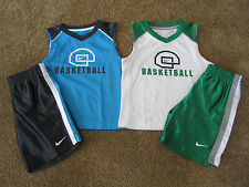 NWT Nike Toddler Boys Shirt & Shorts Basketball Set Green/White or Gray/Blue 2T