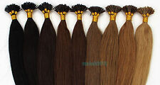 "18""20""22""Keratin Stick tip/I-tip Remy Human Hair Extensions Straight 11colors"