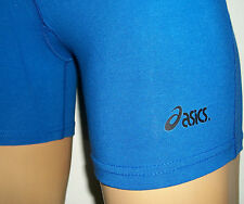 BLUE ASICS Womens Fitness Compression Training Shorts Cotton/SPANDEX Volleyball