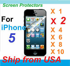 New Crystal Clear (or 9H Aurora Color) Screen Protector 4 Apple iPhone 5 [LOT]