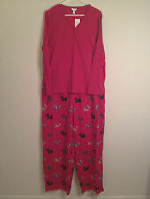 NEW CHARTER CLUB NOSTLGC HOLIDAY SCOTTIE KNIT TOP + FLANNEL PAJAMA PANTS SET