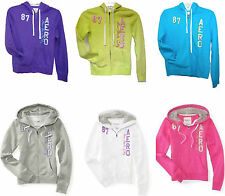 AEROPOSTALE AERO GRAPHIC FULL ZIP WOMENS/GIRLS HOODIE/SWEAT SHIRT NEW #1230
