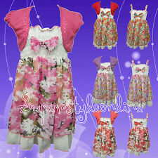Girls Floral Dress & Matching Girls Bolero Shrug Only Age 1-2 years Left Now