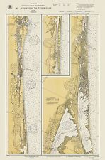 Old State Map - Florida Intracoastal Waterway 1932 - 23 x 34